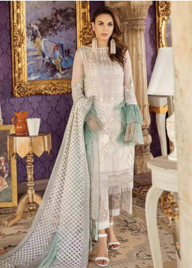 Imrozia by Serene Embroidered Chiffon Unstitched 3 Piece Suit SEI19KM 806 DHANAK-E-CHANDNI - Luxury Collection