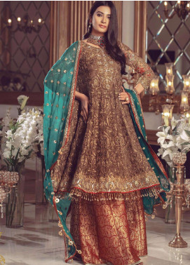 Serene Premium Embroidered Net Unstitched 3 Piece Suit SMP20BL 1008 - Luxury Collection