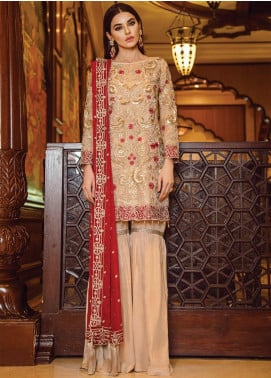Serene Premium Embroidered Missouri Unstitched 3 Piece Suit SPM19F 01 Chryseis Ruby - Festive Collection
