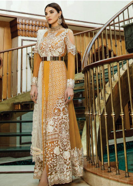 Serene Premium Embroidered Chiffon Unstitched 3 Piece Suit SPM19F 08 Poised Topaz - Festive Collection