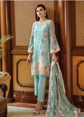 Serene Premium Embroidered Chiffon Unstitched 3 Piece Suit SPM19F 09 Exquisite Elan - Festive Collection