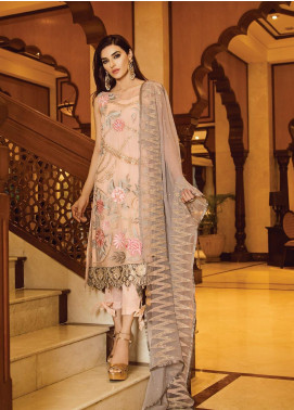 Serene Premium Embroidered Chiffon Unstitched 3 Piece Suit SPM19F 10 Socialite Fantasy - Festive Collection