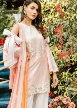 Serene Premium Embroidered Lawn Unstitched 3 Piece Suit SPM19L 04 BOWTASTIC BEAU - Spring / Summer Collection