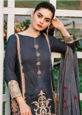 Serene Premium Embroidered Lawn Unstitched 3 Piece Suit SPM19L 15 SEASHORE SWAY - Spring / Summer Collection