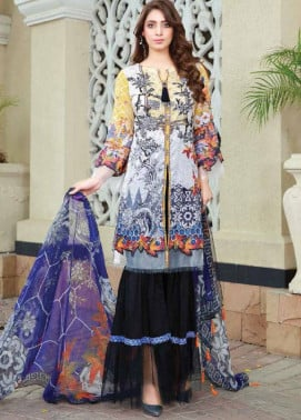 Sifona Embroidered Lawn Unstitched 3 Piece Suit SF17B 01