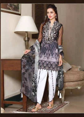 Sifona Embroidered Lawn Unstitched 3 Piece Suit SF17B 09