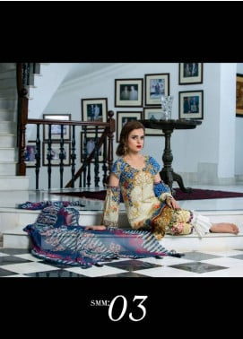 Sifona Embroidered Lawn Unstitched 3 Piece Suit SF17E2 03