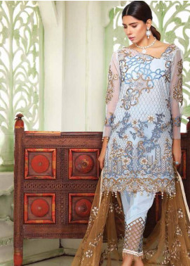 Sifona Embroidered Cotton Net Unstitched 3 Piece Suit SF18C 01