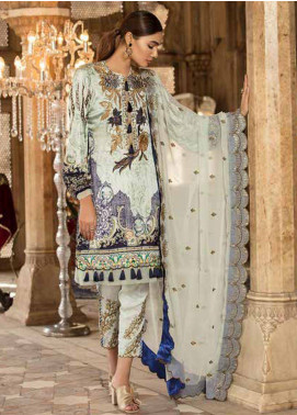 Sifona Embroidered Charmeuse Unstitched 3 Piece Suit SFA18-L2 06 - Luxury Collection