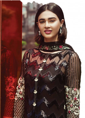 Serene Premium Embroidered Pure Chiffon Unstitched 3 Piece Suit SFF18C 04 - Chiffon Collection