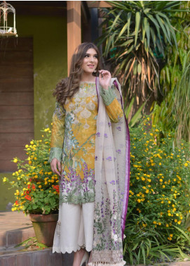 Shiza Hassan Embroidered Lawn Unstitched 3 Piece Suit SH19L 1B SPRING BLOOM - Spring / Summer Collection