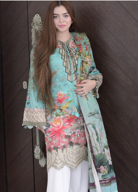 Shiza Hassan Embroidered Lawn Unstitched 3 Piece Suit SH19L 2B LOTUS DREAM - Spring / Summer Collection