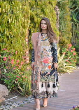 Shiza Hassan Embroidered Lawn Unstitched 3 Piece Suit SH19L 6A ZENIA - Spring / Summer Collection