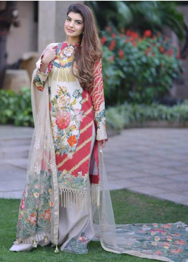 Shiza Hassan Embroidered Lawn Unstitched 3 Piece Suit SH19L 6B ZENIA - Spring / Summer Collection