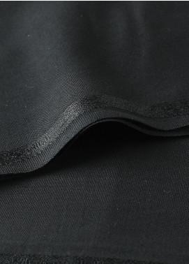 Shabbir Fabrics Plain Wash N Wear Unstitched Fabric SHBF-0029 Black - Summer Collection