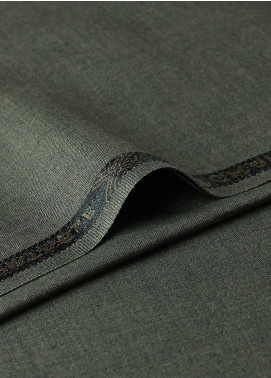 Shabbir Fabrics Plain Wash N Wear Unstitched Fabric SHBF-0029 Mehendi - Summer Collection