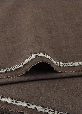 Shabbir Fabrics Plain Wash N Wear Unstitched Fabric SHBF-0030 Brown - Summer Collection