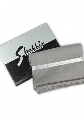 Shabbir Fabrics Plain Wash N Wear Unstitched Fabric SHBP-0020 Grey - Summer Collection