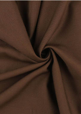 Shabbir Fabrics Plain Wash N Wear Unstitched Fabric SHBP-0027 Brown - Summer Collection