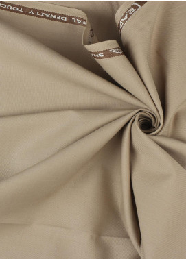 Shabbir Fabrics Plain Wash N Wear Unstitched Fabric SHBP-0027 Camel - Summer Collection