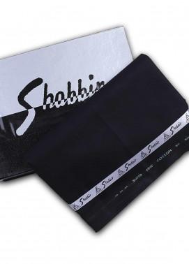 Shabbir Textile Plain Cotton Unstitched Fabric SCH-0051 Black - Summer Collection
