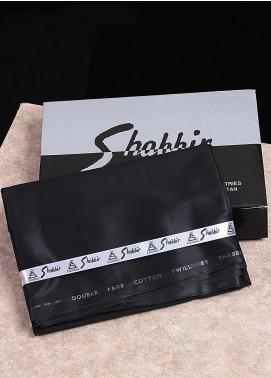 Shabbir Textile Plain Cotton Unstitched Fabric SCH-0052 Black - Summer Collection
