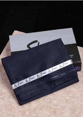 Shabbir Textile Plain Cotton Unstitched Fabric SCH-0052 Navy Blue - Summer Collection
