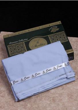 Shabbir Textile Plain Cotton Unstitched Fabric SCH-0053 Blue - Summer Collection