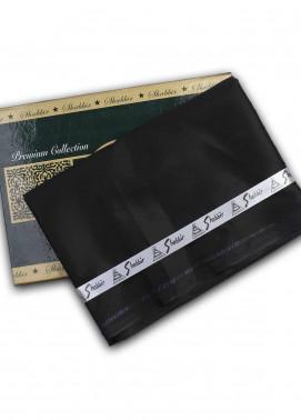 Shabbir Textile Plain Cotton Unstitched Fabric SCH-0054 Black - Summer Collection
