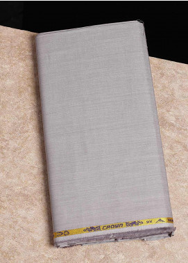 Shabbir Fabrics Plain Chambray Unstitched Fabric SHB-0055 LIGHT GREY - Summer Collection
