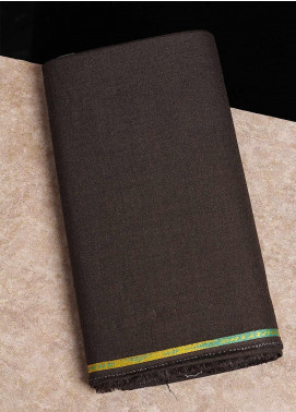 Shabbir Fabrics Plain Wash N Wear Unstitched Fabric SHBF-0041-Brown - Summer Collection