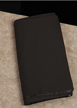 Shabbir Fabrics Plain Wash N Wear Unstitched Fabric SHBF-0046 Brown - Summer Collection