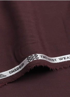 Shabbir Fabrics Plain Wash N Wear Unstitched Fabric SHBP-0026 MAROON - Summer Collection