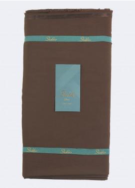 Shabbir Fabric Plain Wash N Wear Unstitched Fabric SHBP-0014 DARK BROWN - Summer Collection