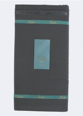 Shabbir Fabric Plain Wash N Wear Unstitched Fabric SHBP-0014 DARK GREY - Summer Collection