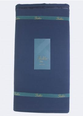 Shabbir Fabric Plain Wash N Wear Unstitched Fabric SHBP-0014 INK BLUE - Summer Collection