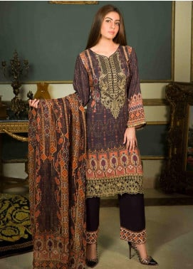 Shamira Embroidered Linen Unstitched 3 Piece Suit SHR19-L2 1 - Winter Collection