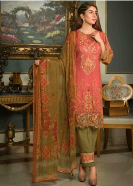 Shamira Embroidered Linen Unstitched 3 Piece Suit SHR19-L2 10 - Winter Collection
