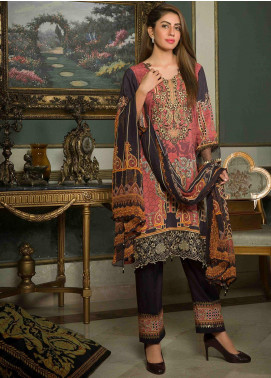 Shamira Embroidered Linen Unstitched 3 Piece Suit SHR19-L2 2 - Winter Collection