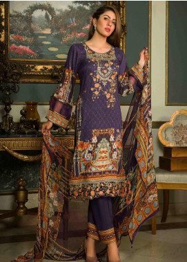 Shamira Embroidered Linen Unstitched 3 Piece Suit SHR19-L2 3 - Winter Collection