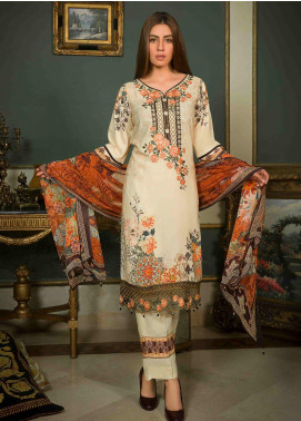 Shamira Embroidered Linen Unstitched 3 Piece Suit SHR19-L2 4 - Winter Collection