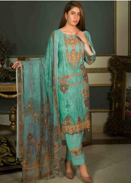 Shamira Embroidered Linen Unstitched 3 Piece Suit SHR19-L2 7 - Winter Collection