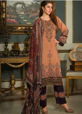 Shamira Embroidered Linen Unstitched 3 Piece Suit SHR19-L2 8 - Winter Collection