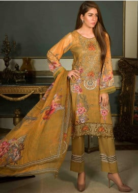 Shamira Embroidered Linen Unstitched 3 Piece Suit SHR19-L2 9 - Winter Collection