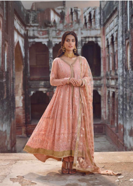 Shahnameh by Qalamkar Embroidered Chiffon Unstitched 3 Piece Suit QLM19SH 01 - Luxury Collection