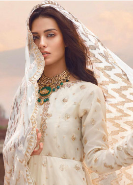 Shahnameh by Qalamkar Embroidered Raw Silk Unstitched 3 Piece Suit QLM19SH 03 - Luxury Collection