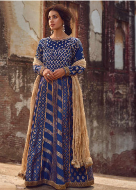 Shahnameh by Qalamkar Embroidered Jacquard Unstitched 3 Piece Suit QLM19SH 05 - Luxury Collection