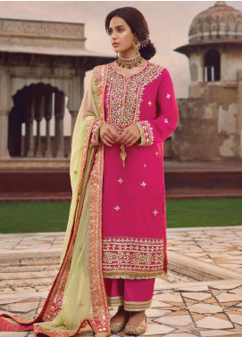 Shahnameh by Qalamkar Embroidered Silk Unstitched 3 Piece Suit QLM19SH 07 - Luxury Collection