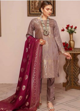 Shahnameh by Riaz Arts Broschia Banarsi Khaddar Unstitched 3 Piece Suit RA20SHN 23 - Winter Collection