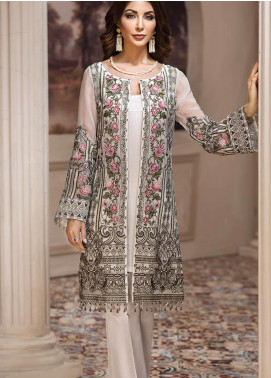 Jazmin Embroidered Chiffon Unstitched 3 Piece Suit JZ19E 6 NAFEESA - Eid Collection